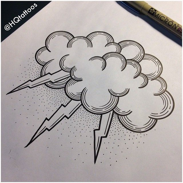 Cloud Tattoo Drawing: Cloud Neotraditional - Buscar Con Google …