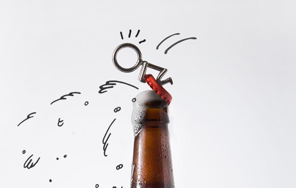 Stick Man Bottle Opener : Your helpful new best friend.