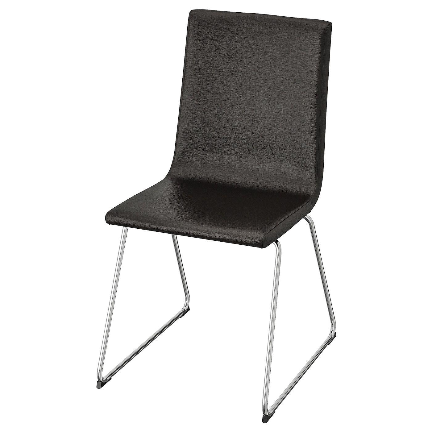 VOLFGANG Chair - chrome plated, Bomstad black | Chrome ...