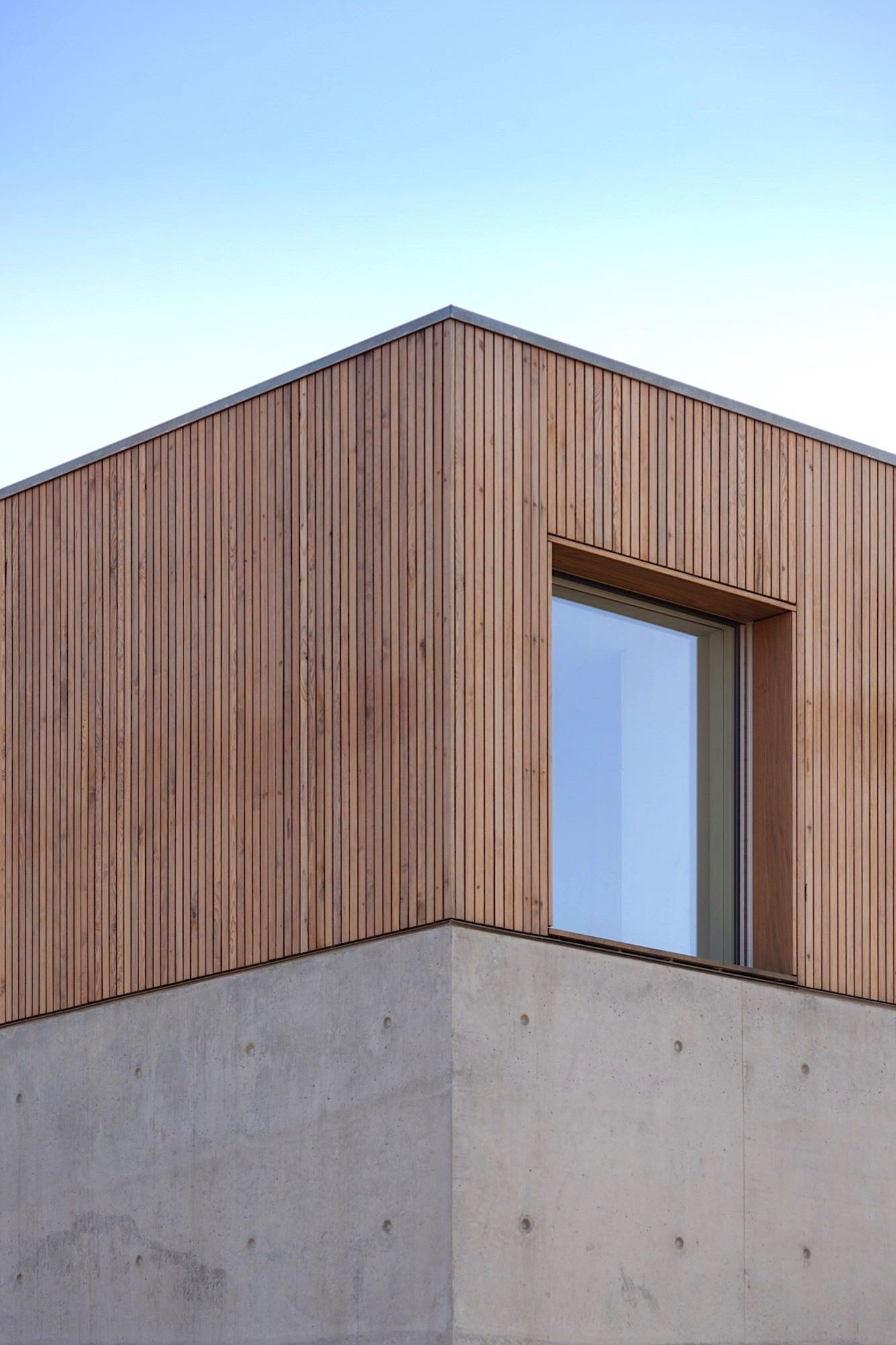Wood   Concrete   Facade   Architecture Detail