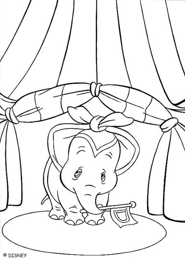 Beautiful coloring page of the disney movie Dumbo. Here, the cute ...