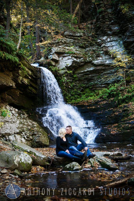 Erin And Anthonys Engagement Photo Shoot At Bushkill Falls Engaged Mrandmrs Soontobe