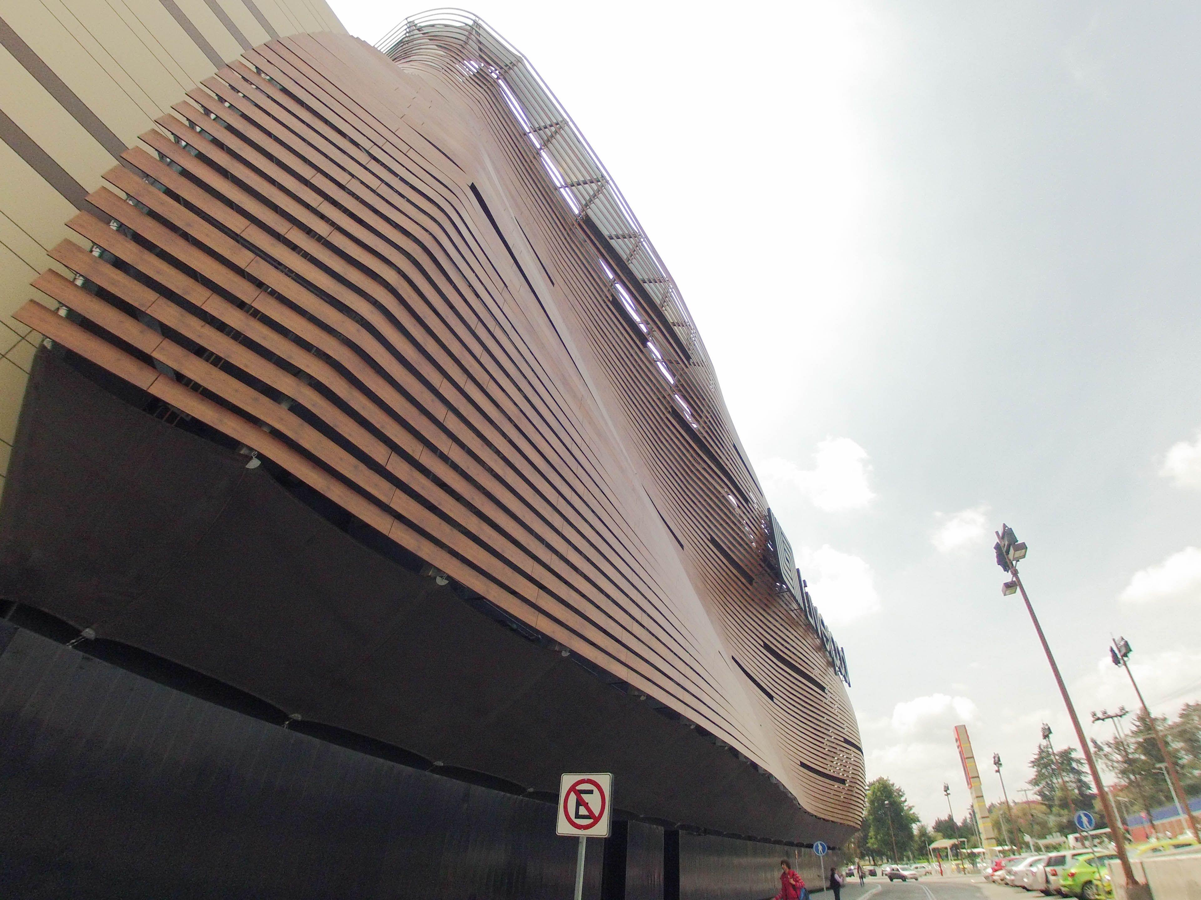 Liverpool Toluca Mexico Fundermax Facade design wood color texture