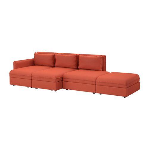 VALLENTUNA Canap 4 pl + couch - Orrsta orange - IKEA MEUBLES