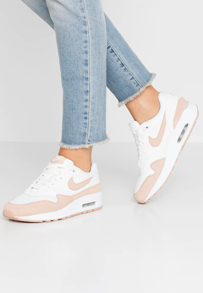 AIR MAX 1 - Sneakers laag - summit white/bio beige @ Zalando ...