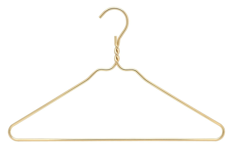 Amazon Com Rdm Gold Coat Heavy Duty Hangers Set Of 10 Standard Hangers Gold Hangers Gold Coating Hanger