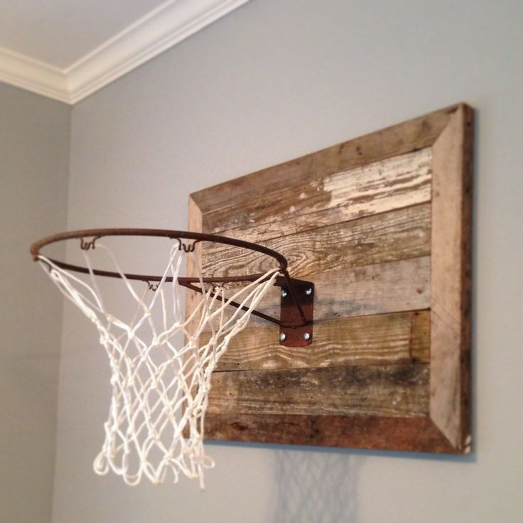 Boys basketball hoop in bedroom ideas hgtv we made for Basketball hoop for kids room