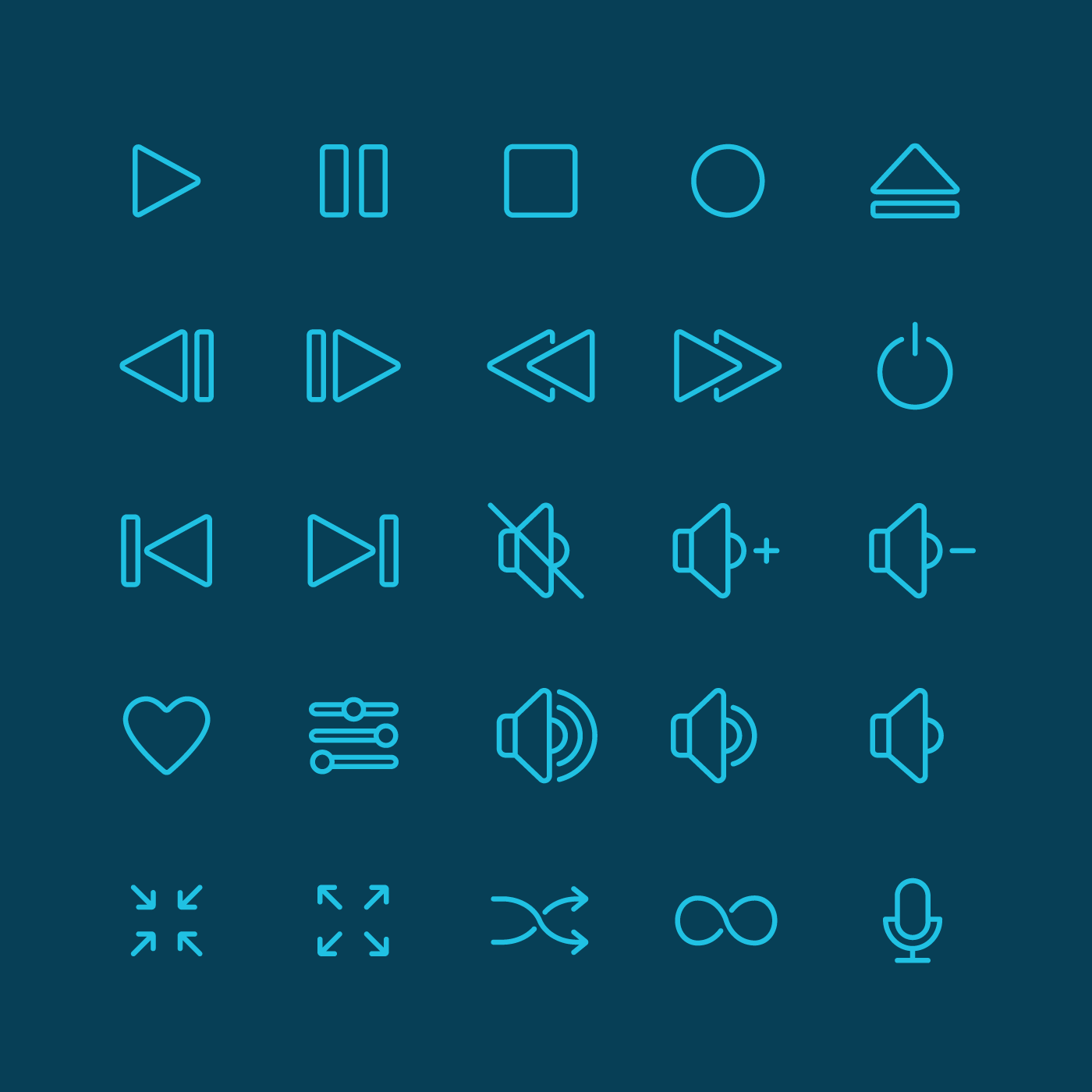 Media Player Icon Set Download On Behance Find The Download Link To This Set On Behance This Icon Set Is The Perfect Fit For Both M Icon Set Icon Icon Design
