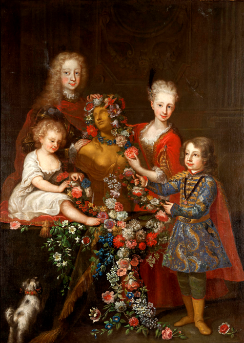 Carlo Amalfi (1707-1787):  Portrait of a family. 18th century.