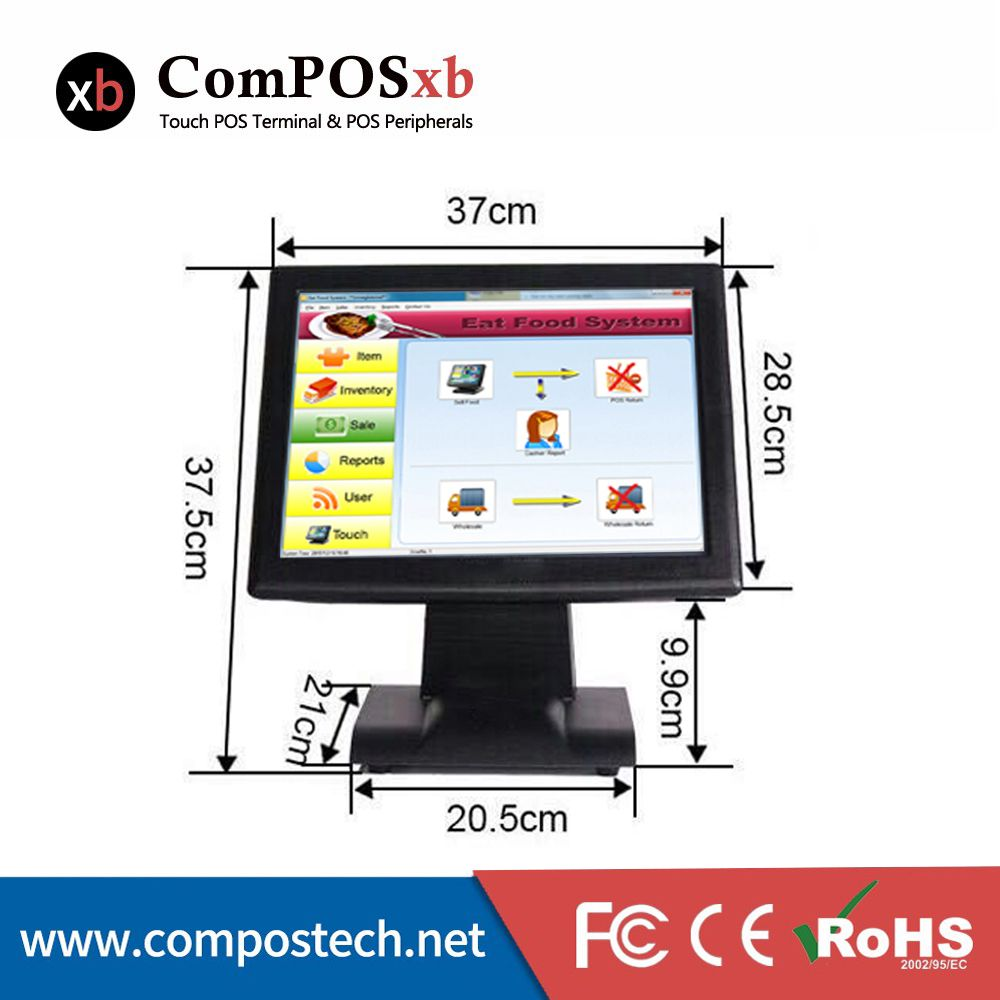 Chinese 15 Inch Touch Pos Machine I3 Pos System With Touch Sensitive Touch Pos All In One Pos2119 All In One Pc Computer Computer Peripherals