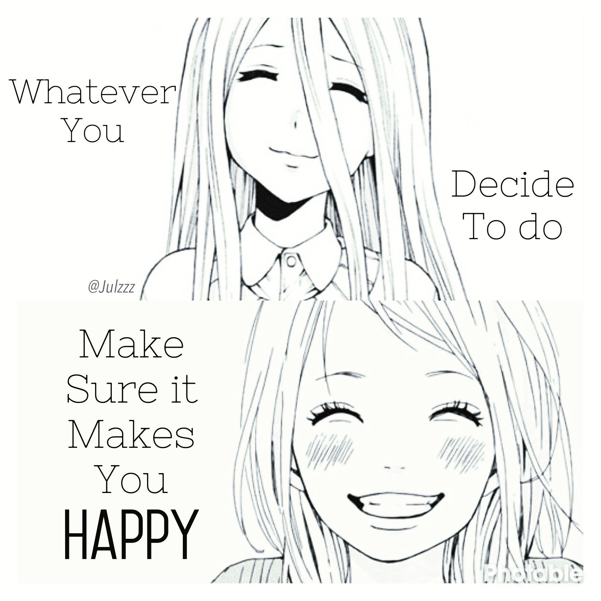 Anime Girl Quotes Happy