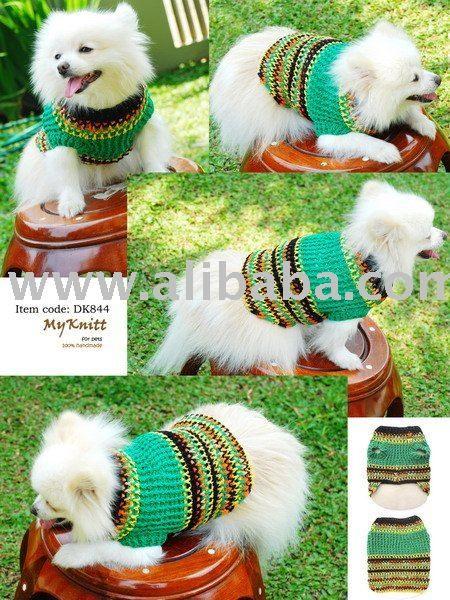 de la mano de punto de ganchillo para perros mascotas ropa de abrigo ...
