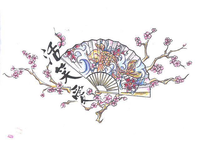 Photo of Chinese Fan Tattoo Design