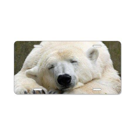 Polar Bear 003 Aluminum License Plate By Jamfoto Cafepress Polar Bear Bear Polar