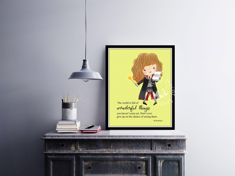 Wonderful things | Hermione Granger | Art Print | Home Decor Print ...
