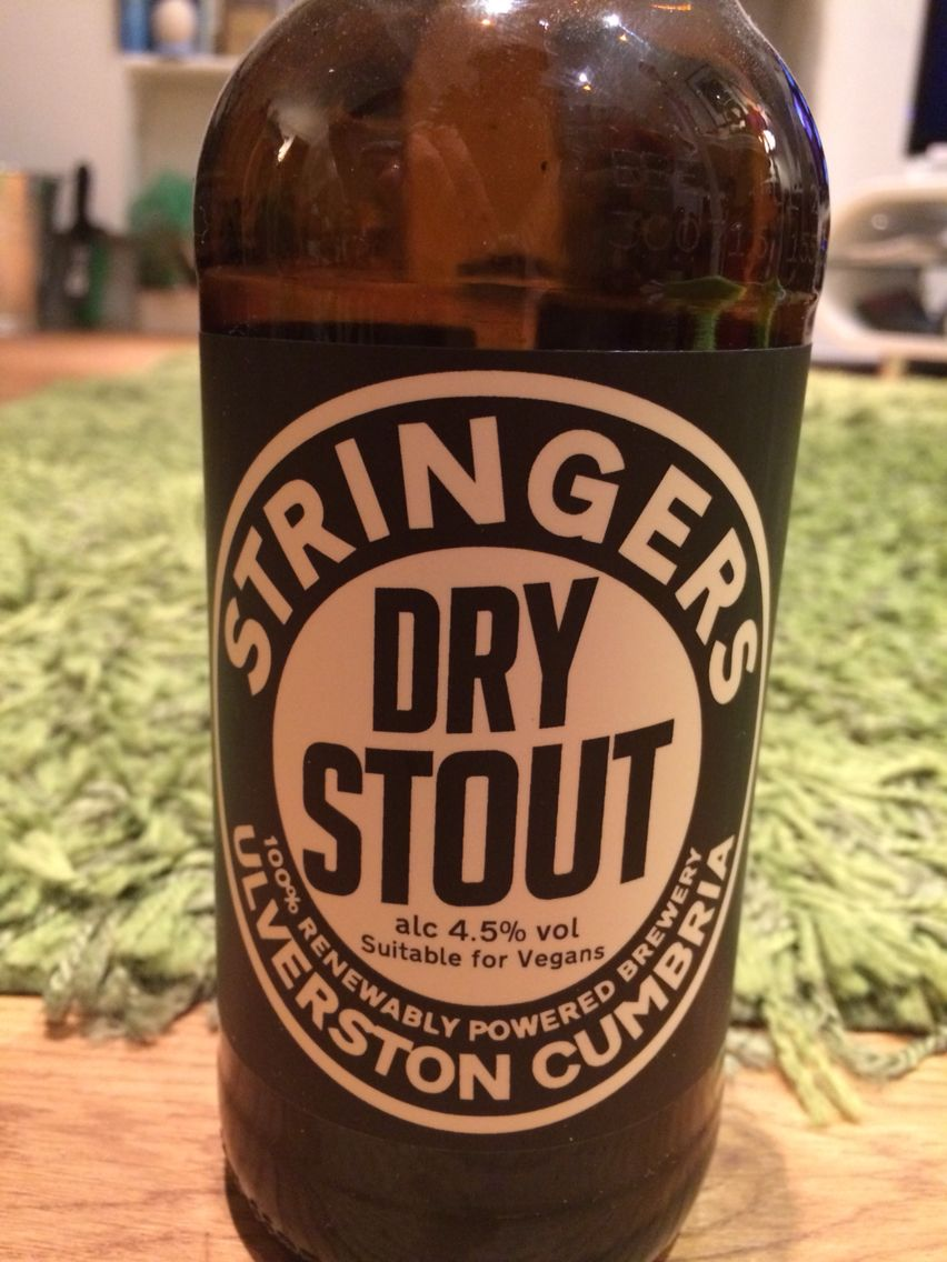 Stringer's Dry Stout 4.5%, Ulverston, Cumbria,  Provided by BeerBods
