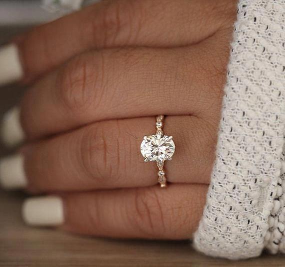 Diamond Wedding Band / 14kt Solid Gold Round Diamond