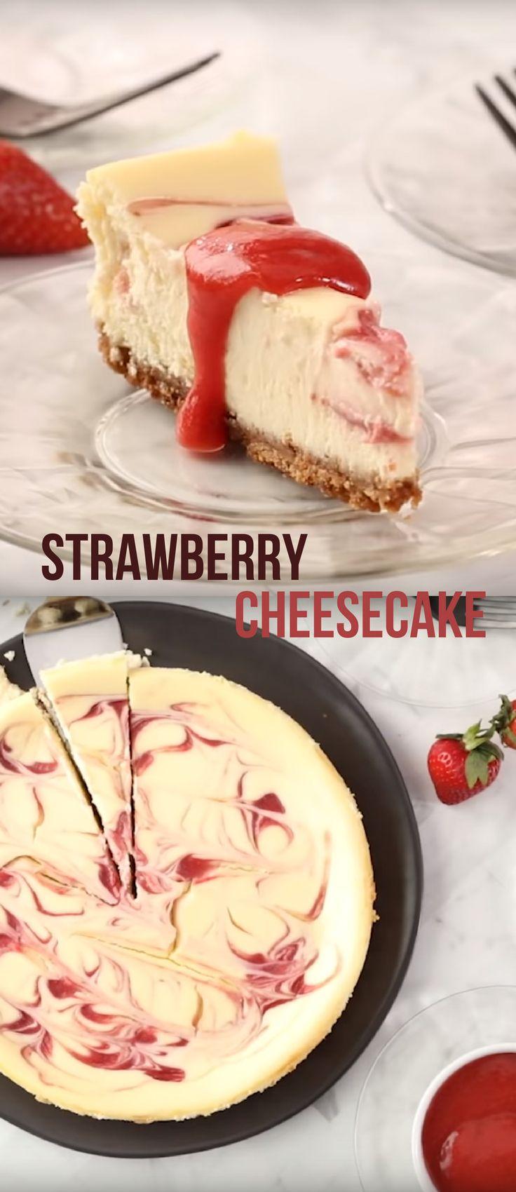 Strawberry Cheesecake Best Kids Dessert Video Recipe cheesecake dessert strawberry is part of Desserts -