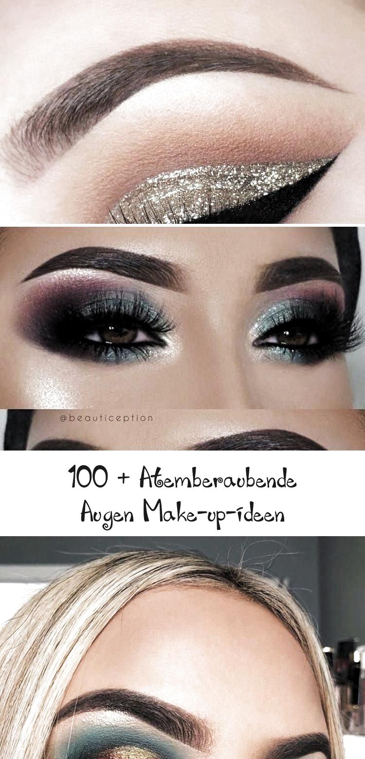 100  atemberaubende Augen Make up Ideen #hochzeitsmakeupRosa #hochzeitsmakeupBri – Kreatives Make-Up