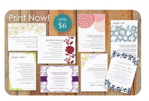 DIY invitation templates for the few guests we potentially have