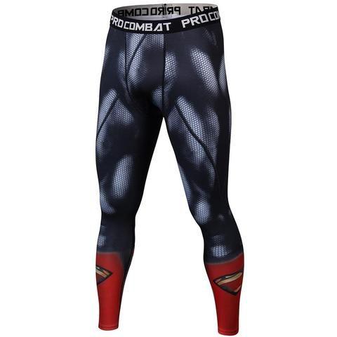 c2ba307027cbae Skinny Sweatpants For Men Compression Pants Men Fashion Leggings Men Jogger  Men 3D Fitness Pants Superman ElasticTrousers