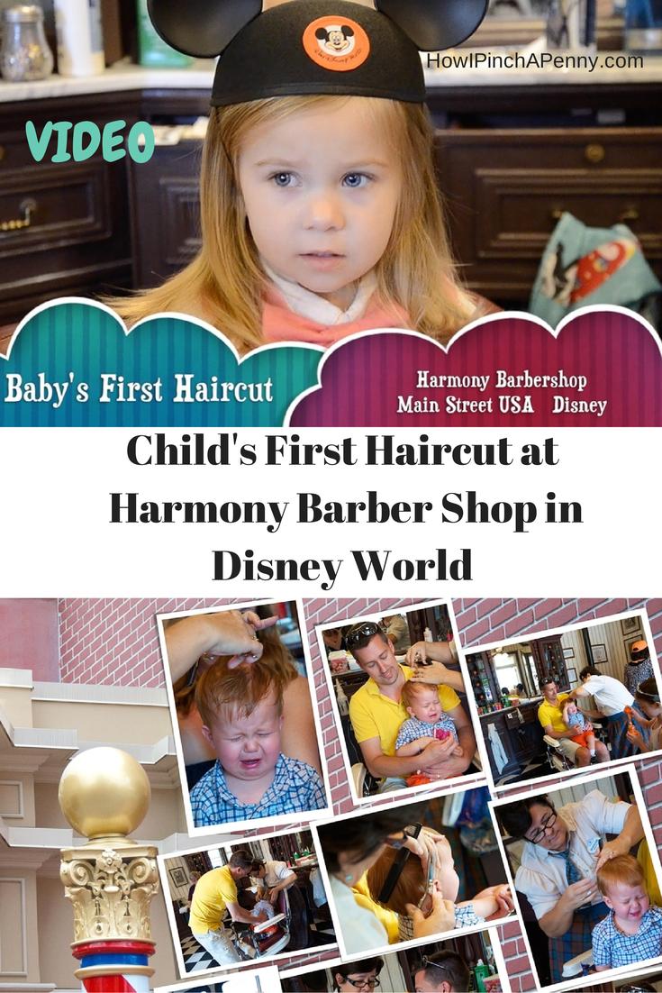 First Haircut At Harmony Barbershop In Disney World Barbershop