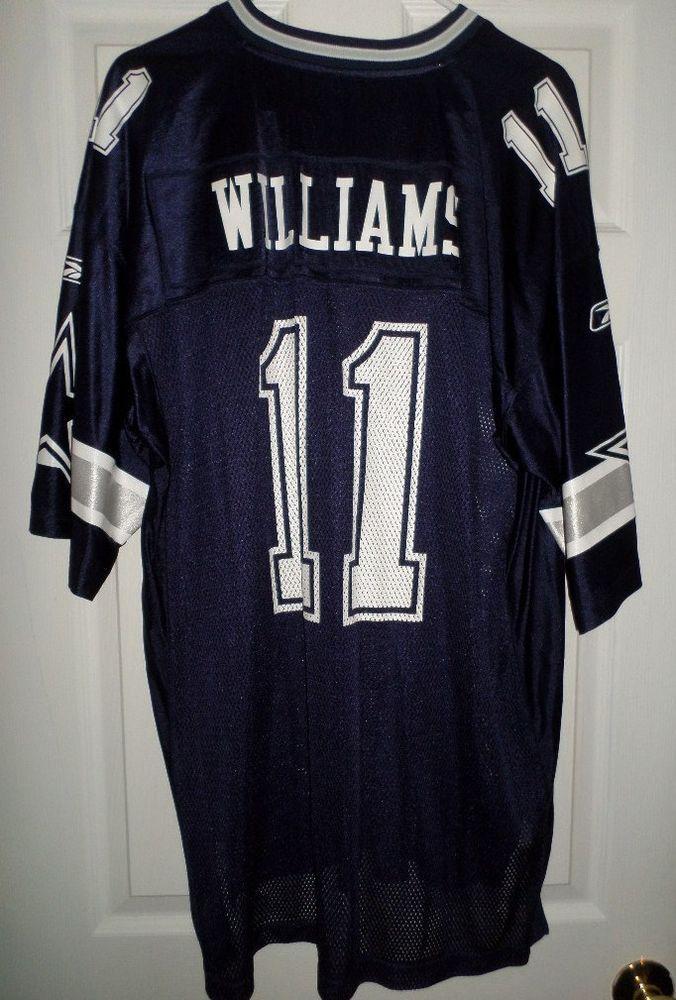 outlet store 5e6b4 4afc7 Men's Blue, Silver & White DALLAS COWBOYS #11 WILLIAMS NFL ...