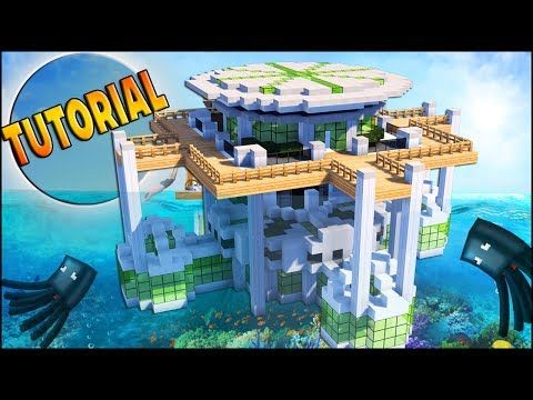Minecraft How To Build A Modern Underwater House Tutorial How To