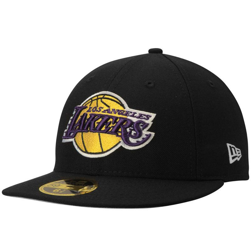 Los Angeles Lakers New Era Official Team Color Low Profile 59FIFTY Fitted  Hat - Black ebf99ca3503