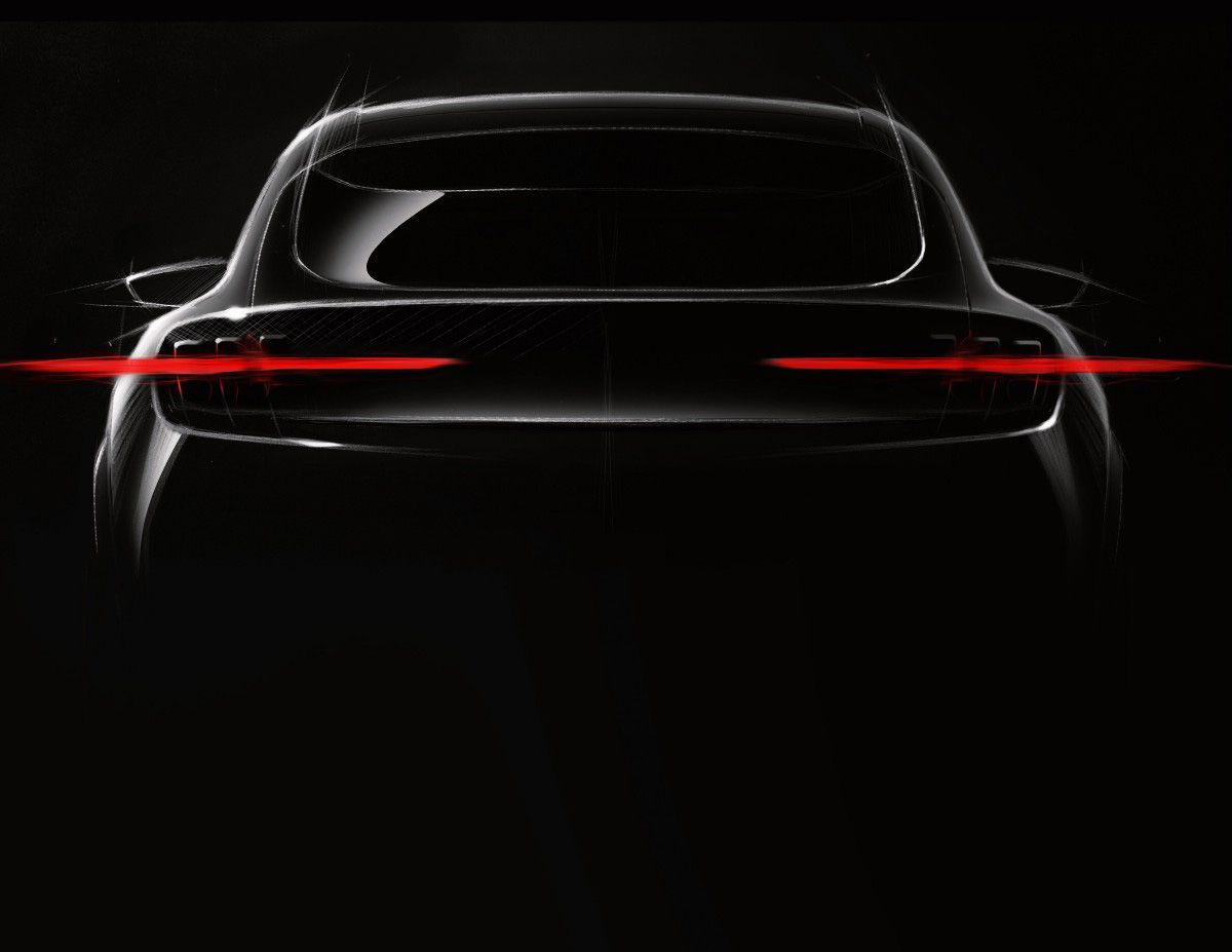 Ford Teases The 2020 Mach 1 Suv With A Very Mustang Like Rear End Electric Cars Ford 2020 Vehicles