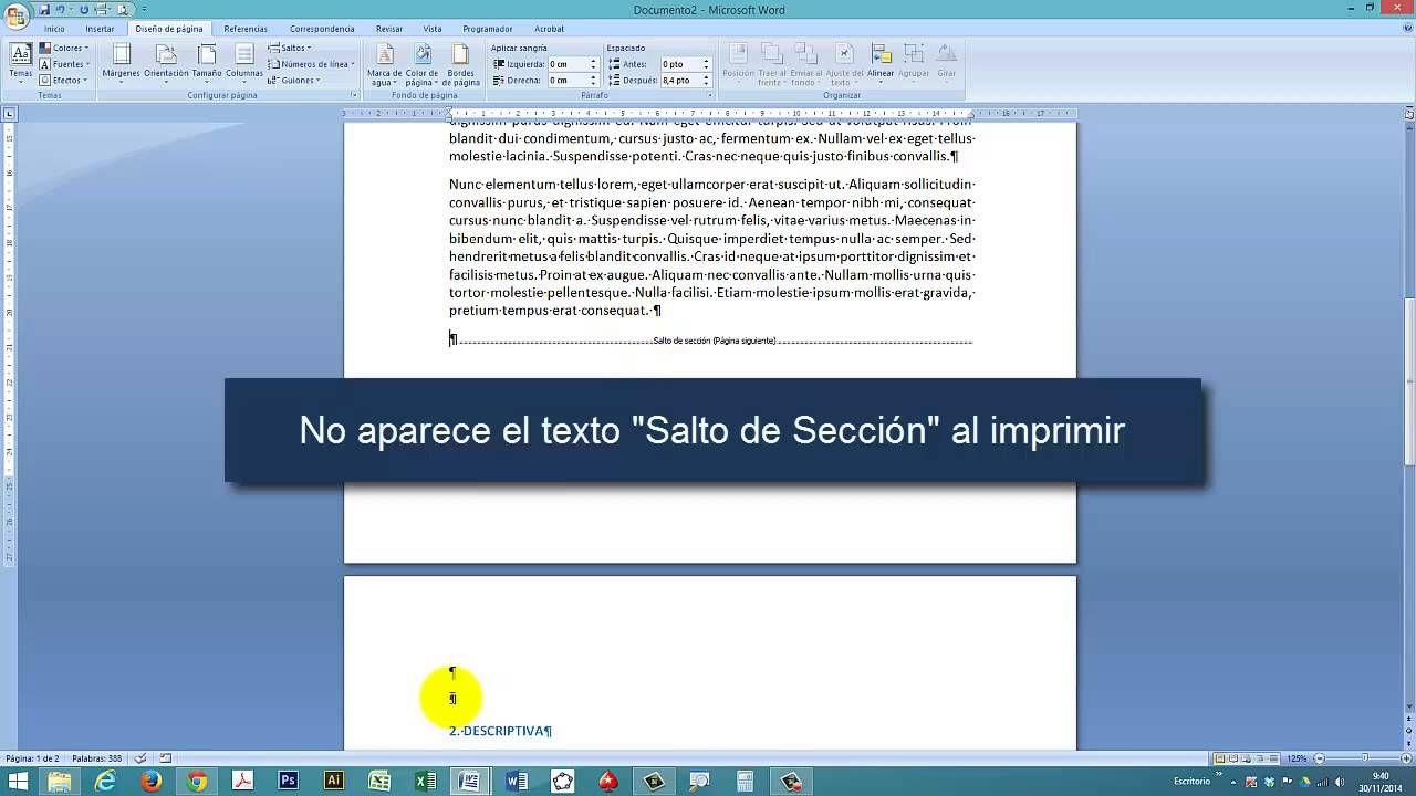 Tutorial Word Cap 7 Poner Página Vertical Y Horizontal En Un Document Informática Cursillo Textos