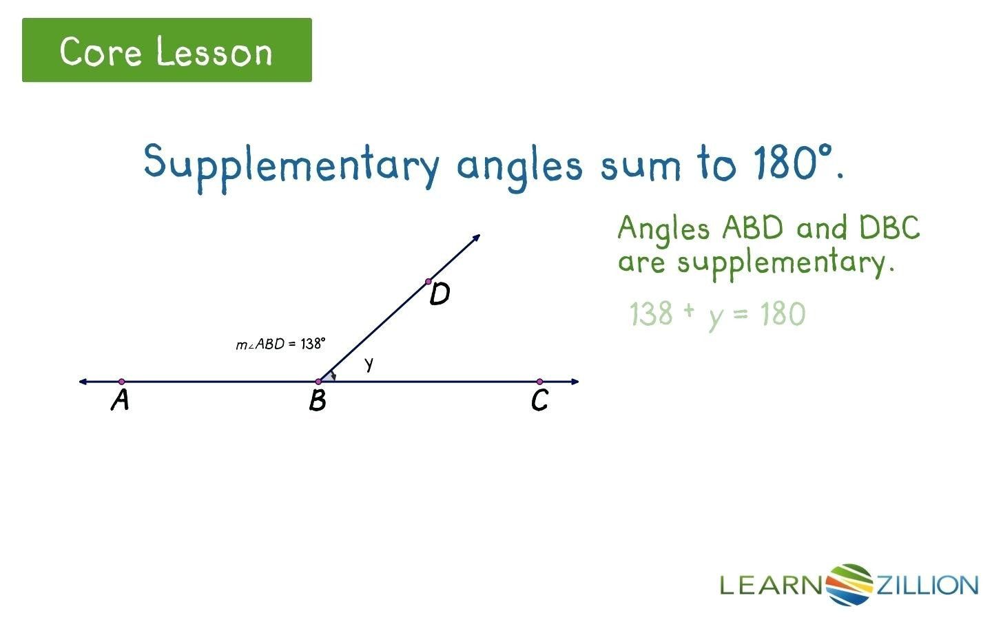 Pairs Of Angles Worksheet Answers Missing Supplementary
