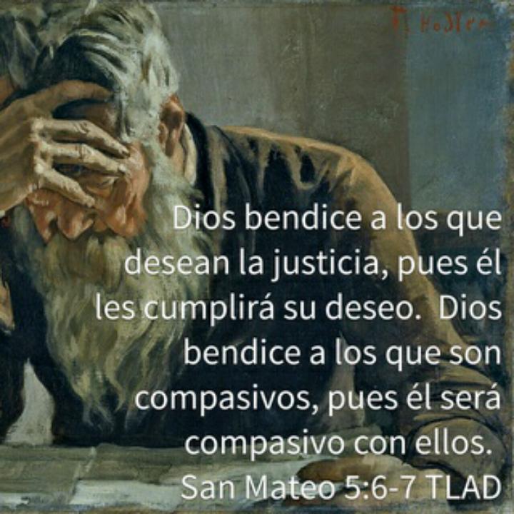 A los que son compasivos - Ante el regateo de la justicia, la compasión. Siempre podremos hacer en favor de quienes sufren la injusticia.