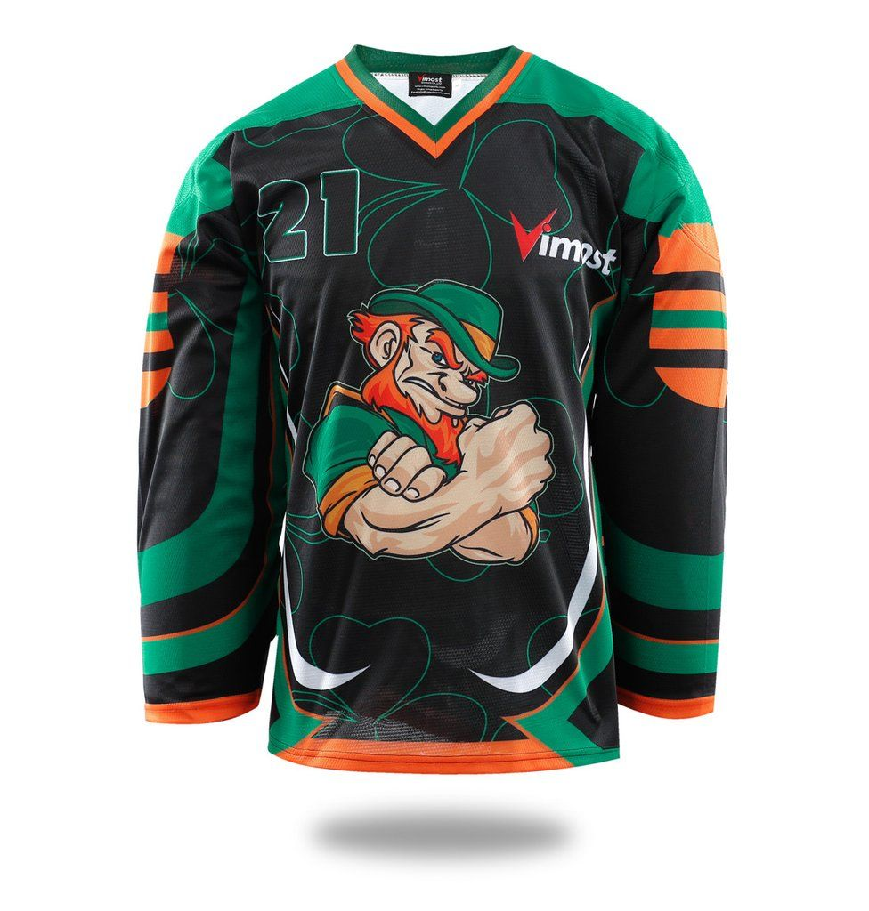 Sublimated Ireland Ice Hockey Jersey  bd10faeed