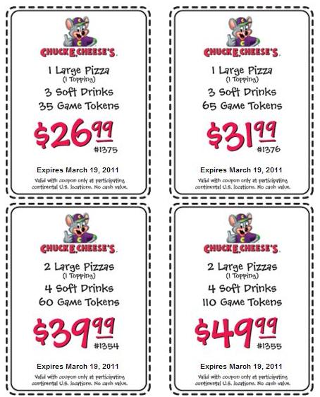 chuck e cheese coupons 2013 printable Chuck E