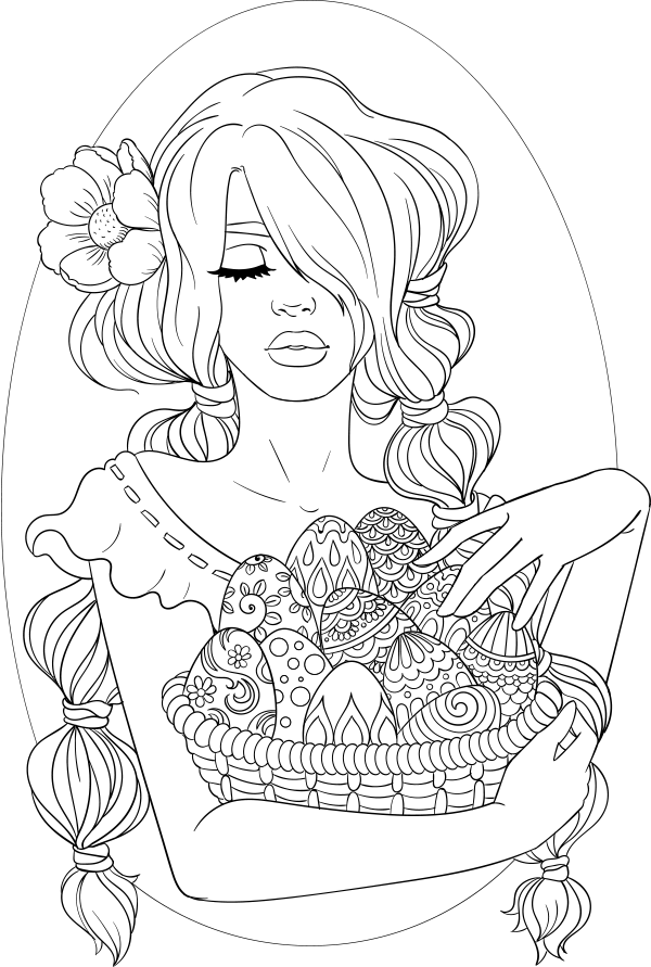lineartsy free adult coloring page easter Free adult