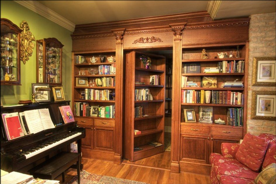 Hidden Room Behind A Pretty Bookcase