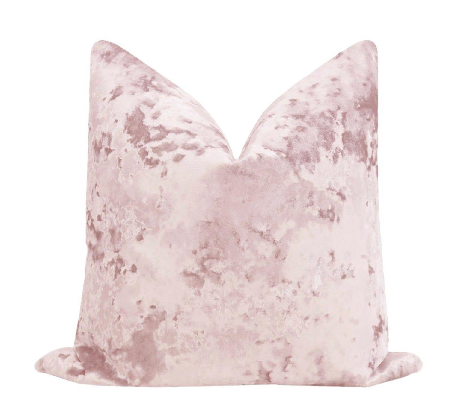 Lavish Velvet // Ballet Pillow COVER ONLY pale pink