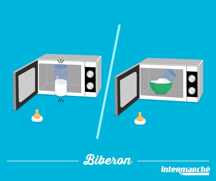 le biberon de b b est trop grand pour votre micro ondes mettez le inclin dans un bol et le. Black Bedroom Furniture Sets. Home Design Ideas