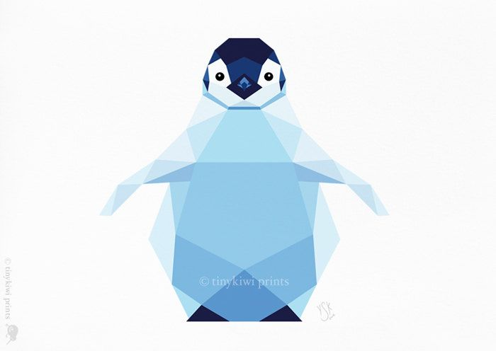 Penguin Baby Emperor Happy Feet Por Tinykiwiprints En Etsy