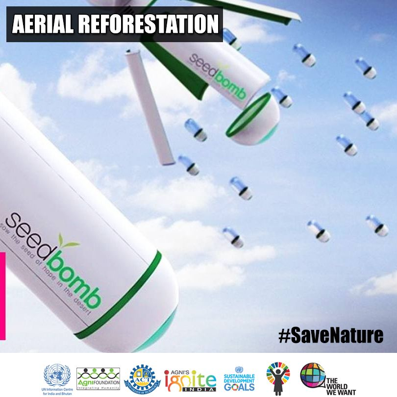 Aerial Afforestation technique! Government can make it