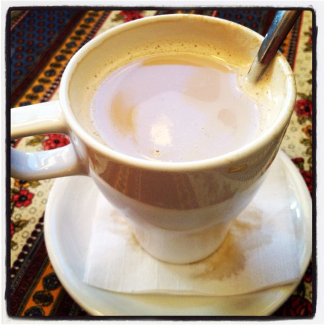 Caffe latte - a great start to a wonderful day!