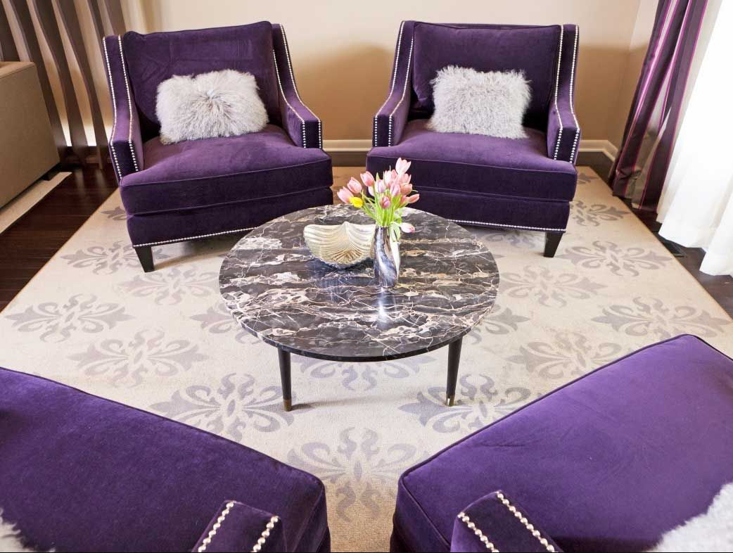 Pin by Mika on Purple  Living room decor eclectic, Living room
