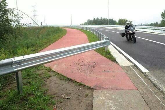 En dan stopt het fietspad....