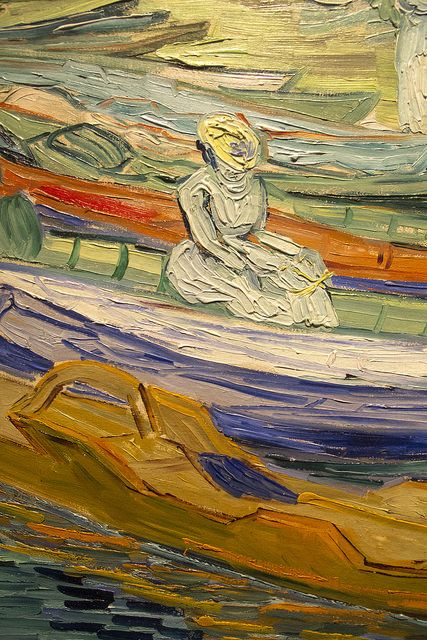 Van Gogh (detail) Auvers sur Oise 37 x 44 oil. Painted by Van Gogh in July 1890. Detroit Institute of Arts, USA    Flickr - Photo Sharing!