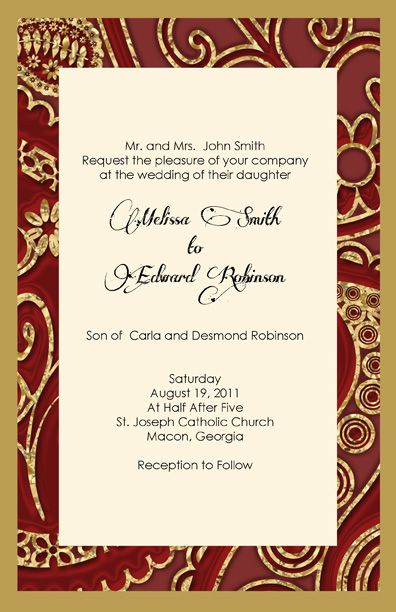 Image detail for -of gold and deep red Wedding Invitations reminds me of a Royal Wedding ...