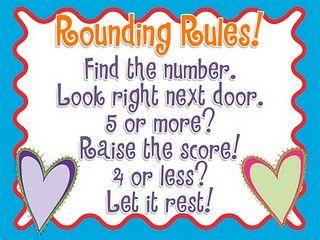 rounding rules poem for upper grades kids copy poem in math journal