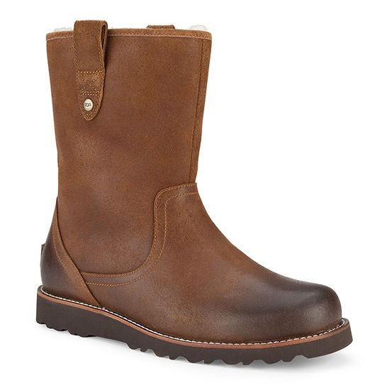 The streamlined UGG Men's Stoneman Boot features a sleak silhouette  combining oiled and waterproofed full-