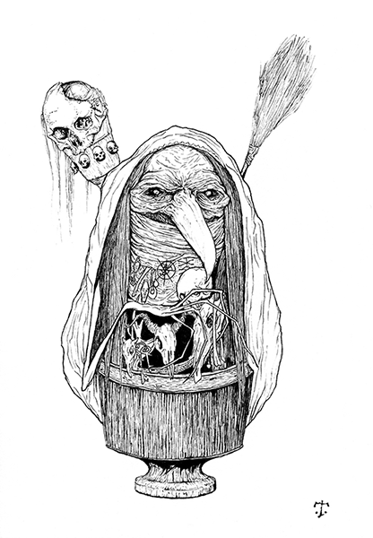 Variations of the name Baba Yaga are found in the
