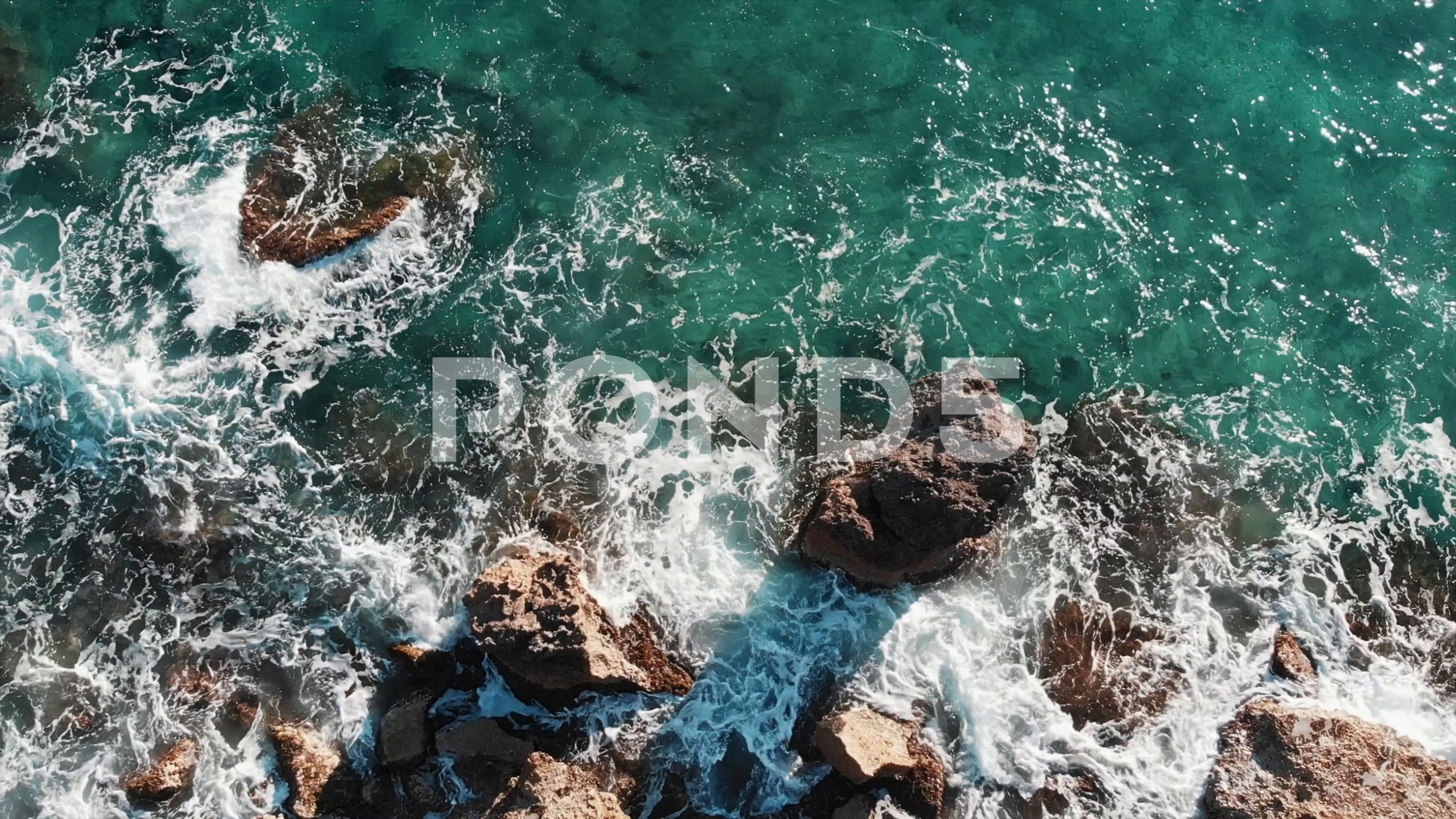 Aerial View Of Blue Clear Sea Water Aerial View Of Sea Waves Blue Ocean Waves Stock Footage Ad Clear Sea Blue Aerial Aerial View Sea Waves Ocean Waves